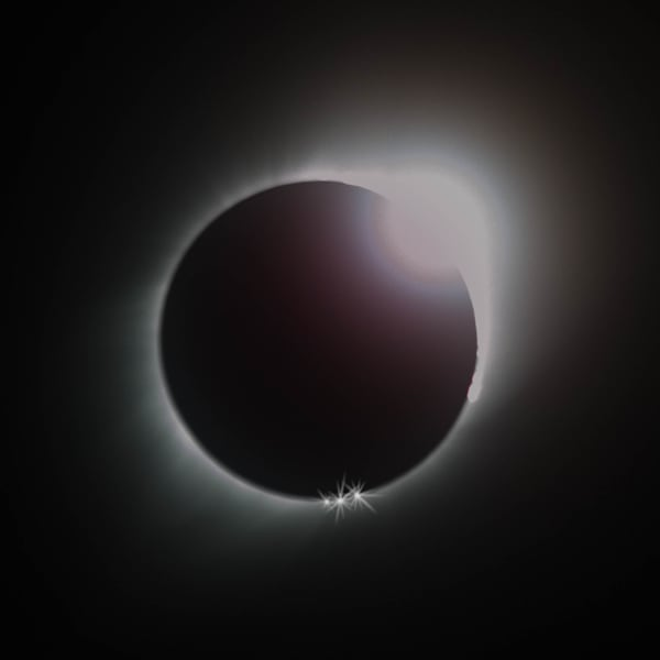 Purchase Total Solar Eclipse Diamond Ring photograph print as fine art by Mike Jensen
