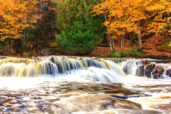 Bond Falls in Autumn 3 - Landscape Photograph | William Drew