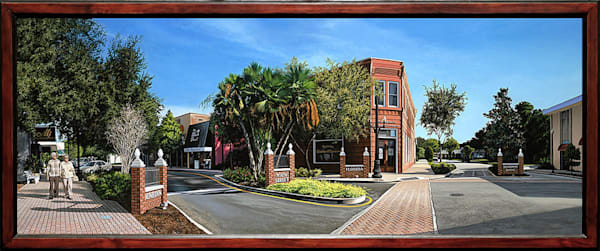 Downtown Dunedin acrylic painting  | Kevin Grass Fine Art