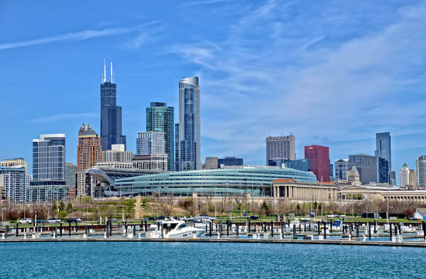 Chicago Soldier Field Cityscape - Fne Art Prints - JP Sullivan Photography