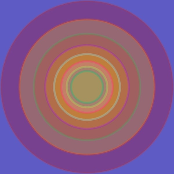 Orbital, Blue Meme, contemporary fine art print, multiple sizes