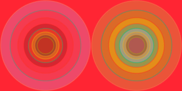 Orbital, With Every Beat, diptych, a fine art print by Los Angeles Artist Paul Westacott