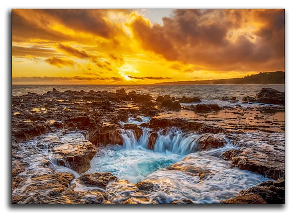 Sunrise Cauldron Metal Print