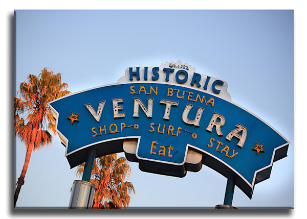 Ventura Sign Wrap Canvas