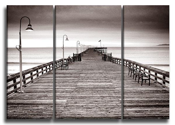 Wooden Pier Canvas Triptych