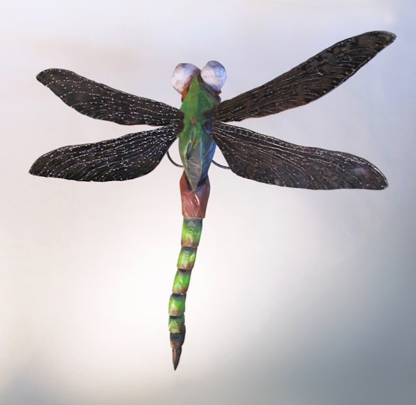 art wood carving dragonfly sculpture insect