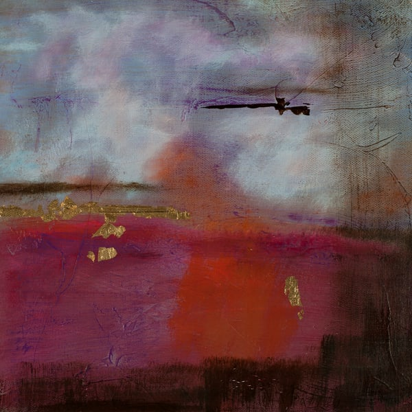 Tangerine Dream original abstract landscape artwork by Jana Kappeler, artist.