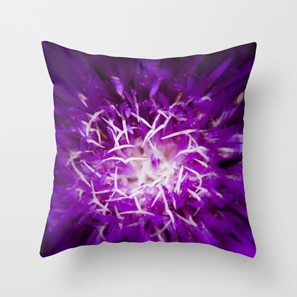 Abstract Flower Indoor and Outdoor Throw Pillows Square and Rectangle