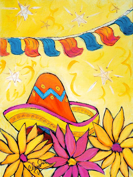 Fiesta II - print of acrylic painting by Claudia True