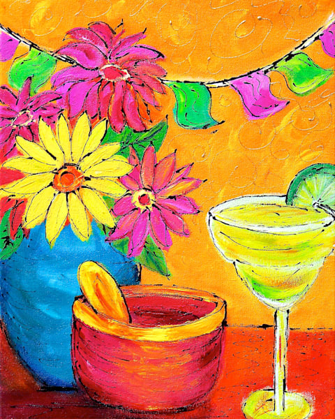 Cinco de Mayo print of Claudia True's acrylic painting.