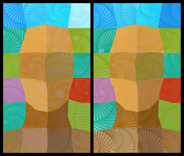 GeoMan Diptych Art Canvas