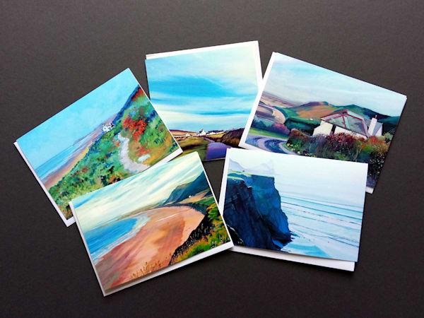 Rhossilli Bay Greeting Cards by Denise Di battista