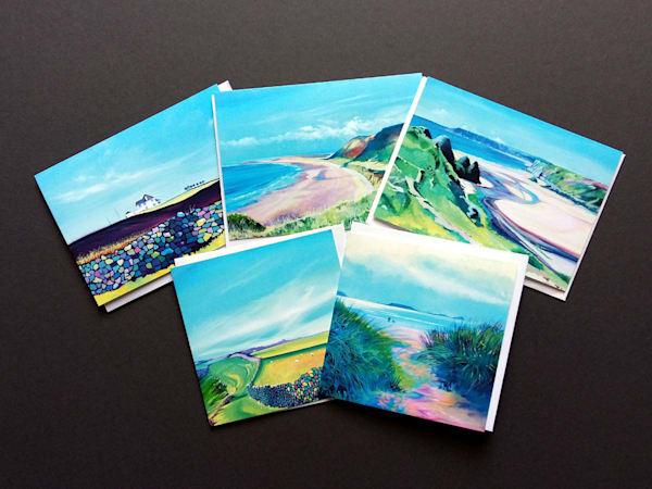 Gower coastal Walks Greetings Cards