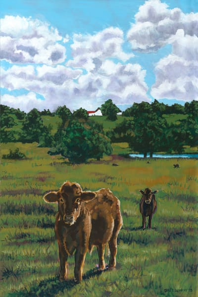 Original Landscape and Cow Paintings by John R Lowery, available as prints on paper, canvas, metal and acrylic.