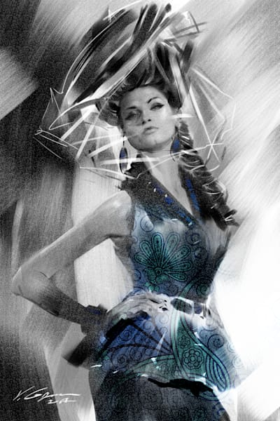 Veil - Fine Art by Vahe Grigorian Los Angeles Artist - Digital Prints available for Paper, Canvas, Metal and more.custom art, digital portrait, portraits , art for sale