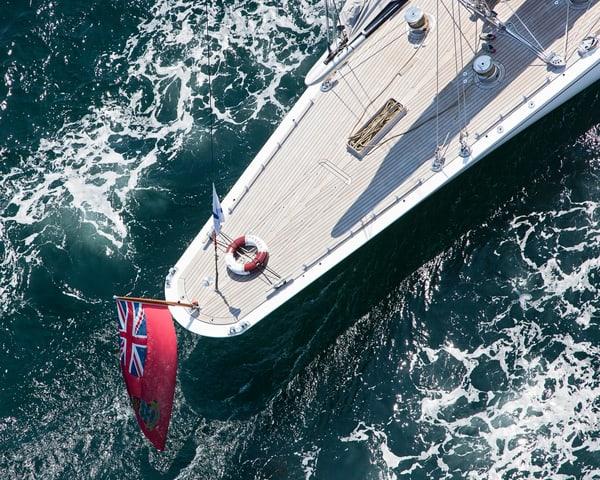 """J5 Ranger Stern"" J Class Yacht Nautical Photography"
