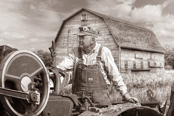 Old Time Farmer Sepia