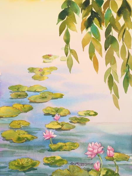Serene Lily Pond | Zen Landscapes | Gordon Meggison IV