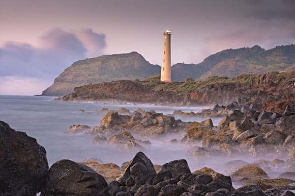Sunrise at Ninini Point Lighthouse, Fine Art and Landscape Photography, Hawaii, Kauai