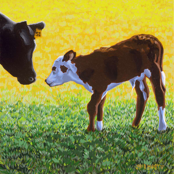 Buy colorful Texas calf and livestock paintings by John R. Lowery - available as art prints.