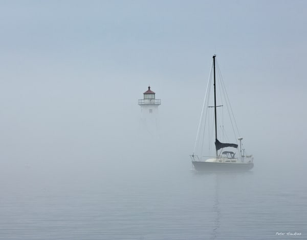 Grand Marais Harbor in Fog