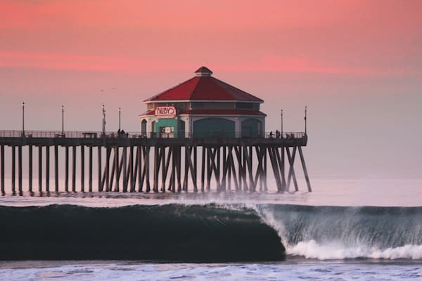 'The Red Pier' Photograph for sale as Fine Art