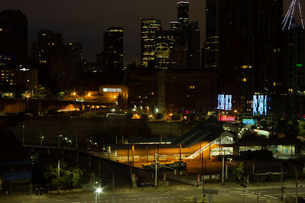 Fine Art Photograph of Night in Downtown Seattle by Michael Pucciarelli