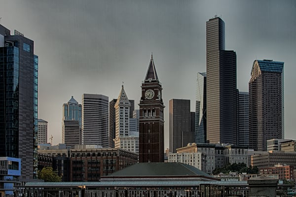 Fine Art Photographs of CenturyLink in Seattle by Michael Pucciarelli