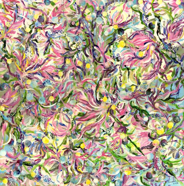 Mauve Magnolias Art | Janak Narayan Fine Art
