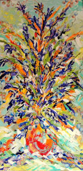 Floral painting for sale,  botanical abstracts, Janak Narayan Fine Art