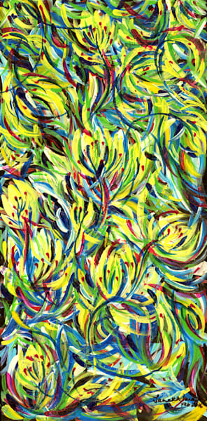 Floral abstracts in oil and acrylic for sale, Unique technique, Janak Narayan Fine Art