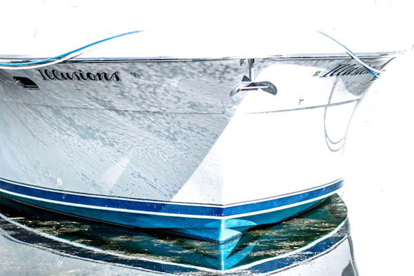 Boat in water fine art photography prints.