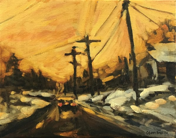 Morning Winter Sunrise On Main Art | Geoffrey Butz Art & Design Inc