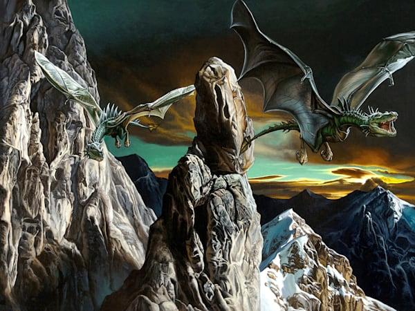 Dragons in Flight print | Kevin Grass Fine Art