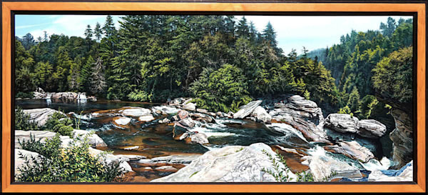 Linville Falls waterfall painting   Kevin Grass Fine Art