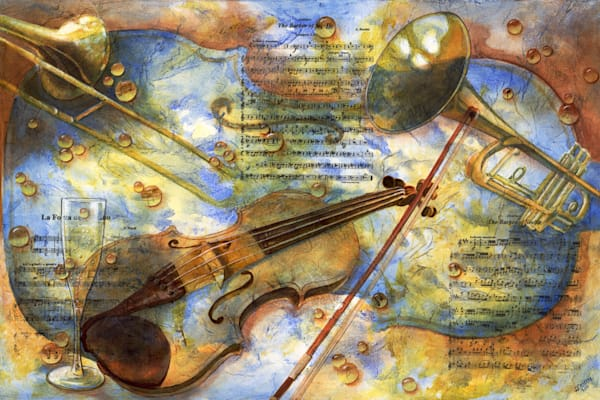 Music Inspired Art and paintings