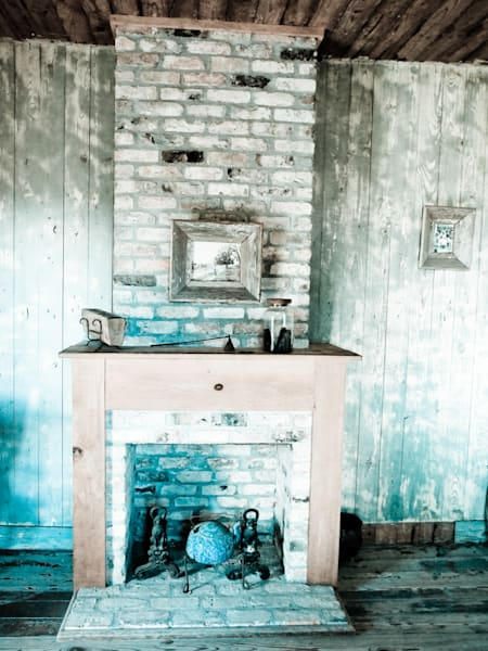 Faded Fireplace