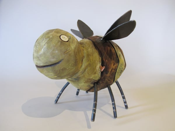Buy Wooden Bug Carvings with Metal Legs, Antenna and Wings