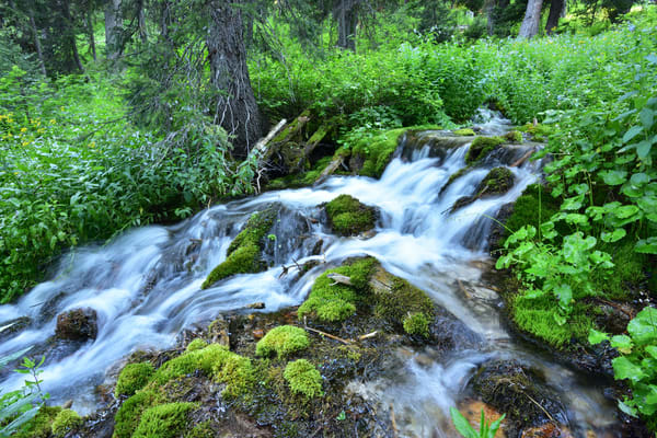 He Leadeth Me - waterfalls hidden in the Grand Teton Range, Wyoming - Fine Art Prints on Metal, Canvas, Paper & More By Kevin Odette Photography