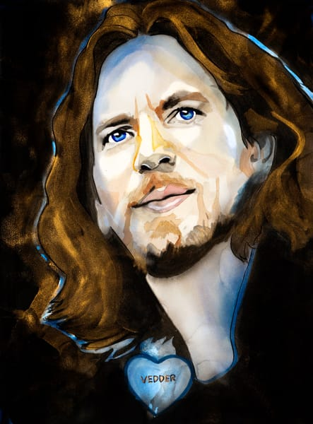 Eddie Vedder Art | William K. Stidham - heART Art