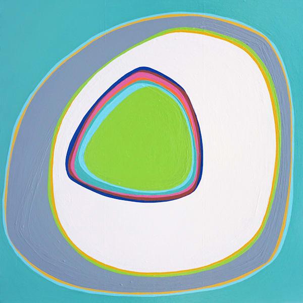 "Blue Room, artist Paul Westacott. Acrylic on canvas. Dimensions 24""x24"""