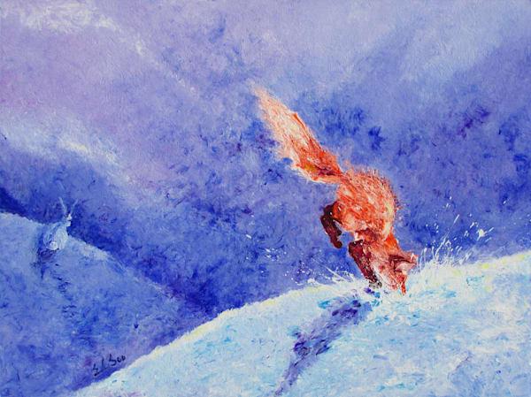 Red Fox hunts & Rabbit Runs by En Chuen Soo Fine Art
