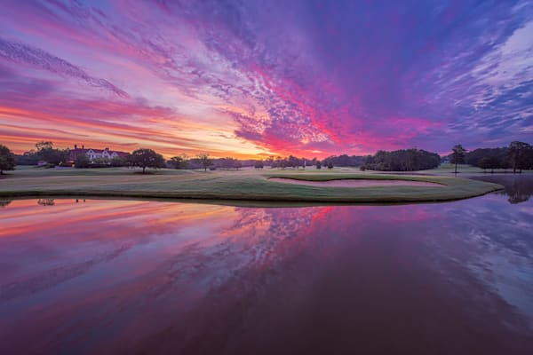 Brilliant - Transition from Blue Hour to Sunrise at East Lake Golf Club