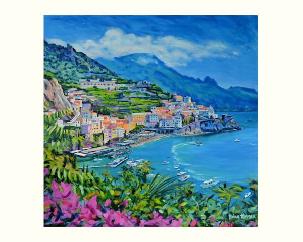 Almafi Coast Oil Painting