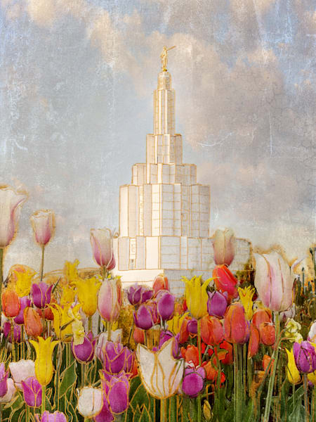 Cheery Idaho Falls Temple  Art | Mandy Jane Williams Art