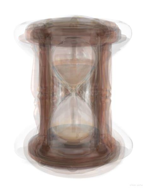 Overlay art – contemporary fine art prints of an hourglass