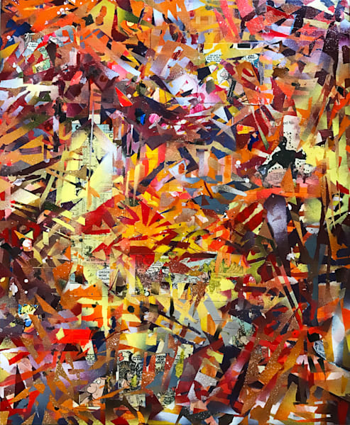 Autumn Abstraction in G #1 - Original Abstract Painting by Soma79