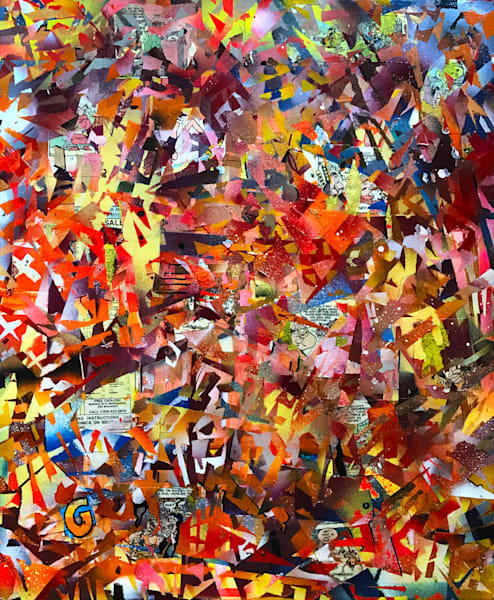 Autumn Abstraction in G #2 - Original Abstract Painting by Soma79