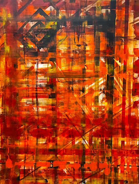 Amber Waves  - Original Abstract Painting by Soma79