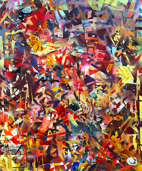 Autumn Abstraction in G #3 - Original Abstract Painting by Soma79